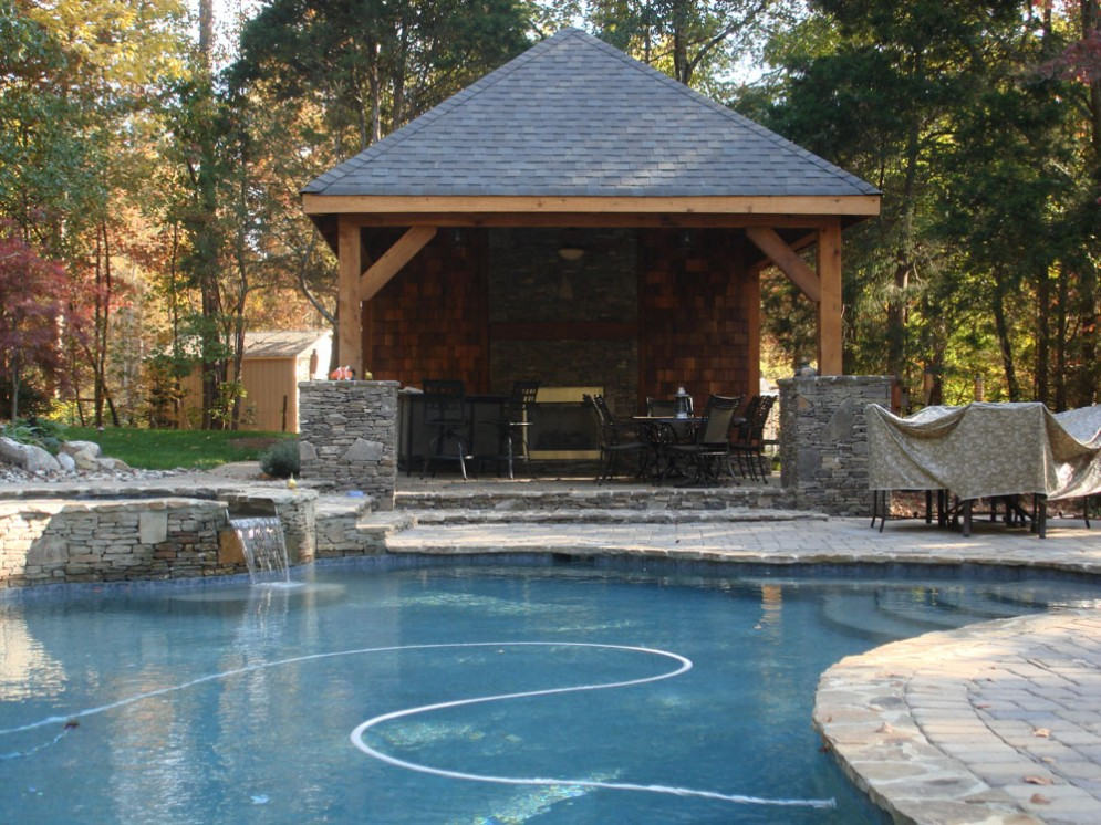 Pool cabana plans that are perfect for relaxing and for Cabana bathroom ideas