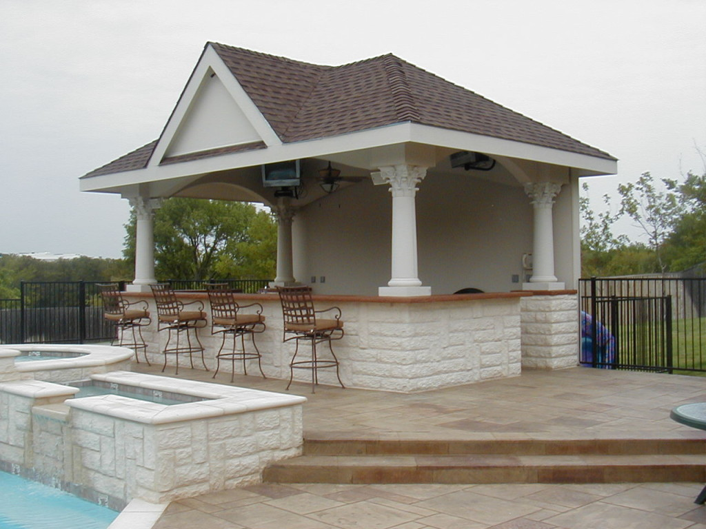 Pool cabana plans that are perfect for relaxing and for Pool house designs with outdoor kitchen