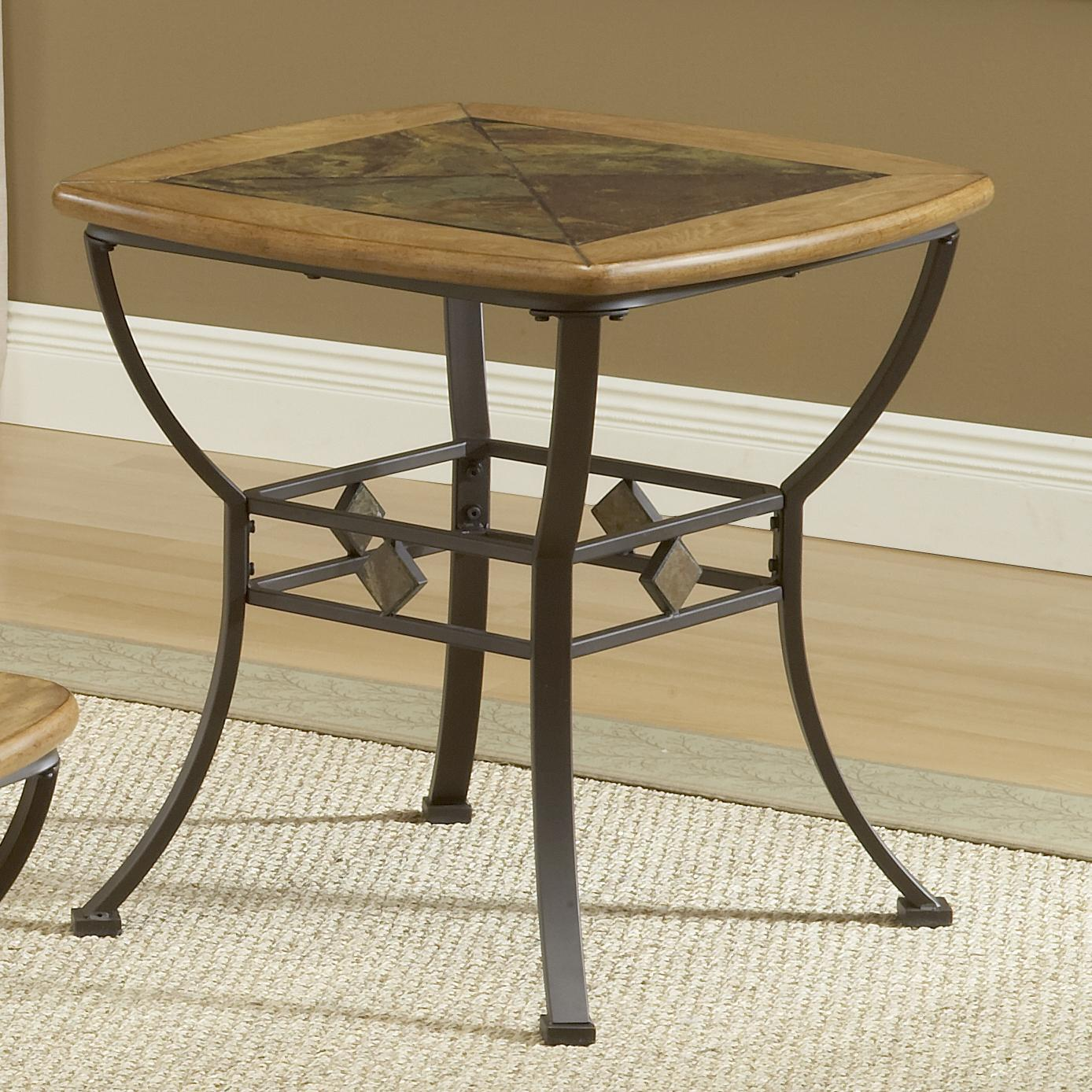 Slate end tables showcasing rustic details homesfeed for Table th collapse