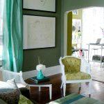 curtains chair pillows table books rug pics