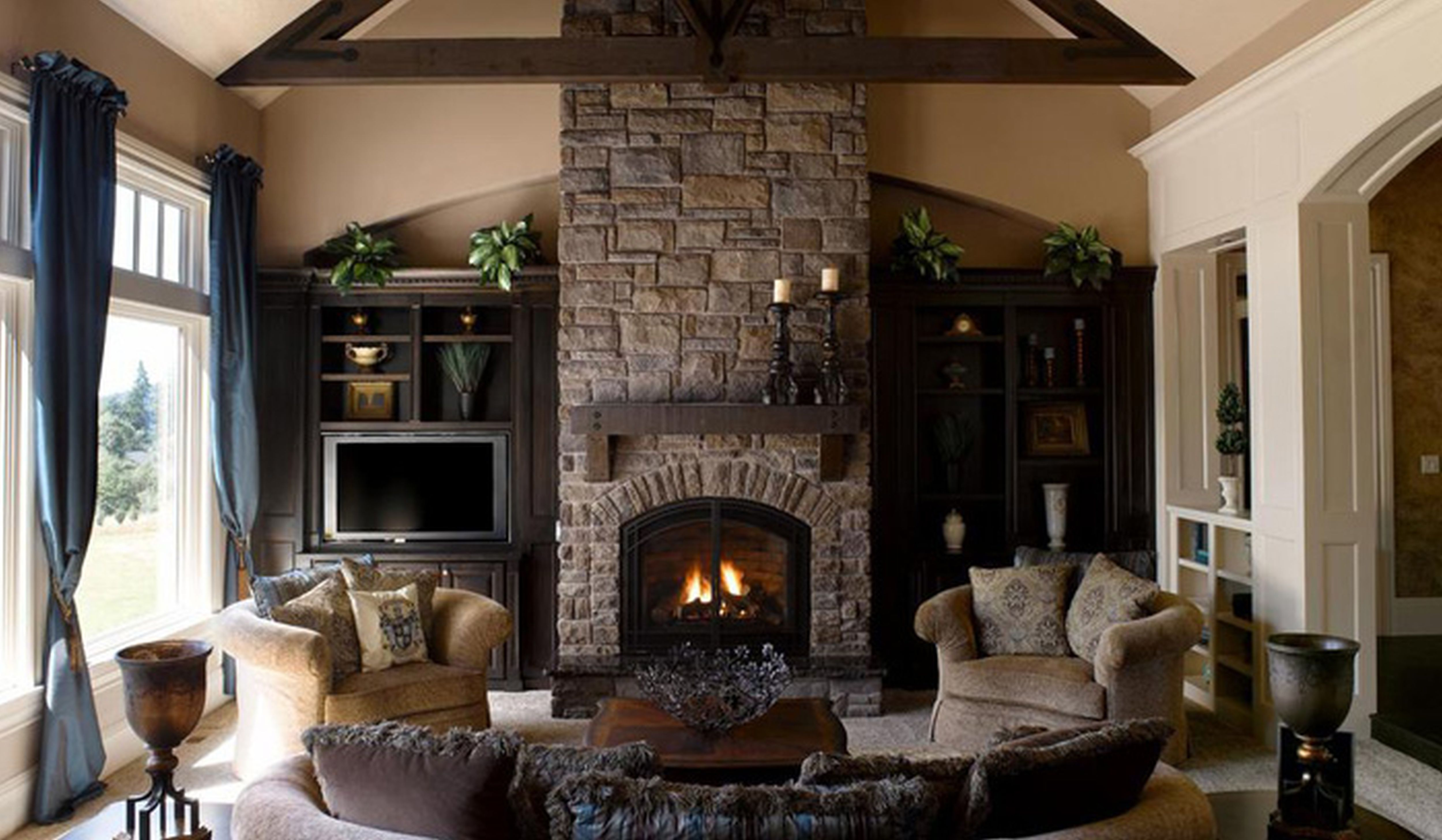 Best Living Room Fireplace Ideas Decorating Ideas
