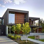 Dark Gray Stucco Wooden Modern Siding Options Wonderful Modern Design House Beautiful Green Front Yard