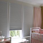 Darkening Cellular Shades Blackout Blinds For Baby's Room White Pink Baby's Room Soft Pink Curtain White Furniture