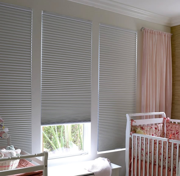 Darkening Cellular Shades Blackout Blinds For Babyu0027s Room White Pink Babyu0027s  Room Soft Pink Curtain White
