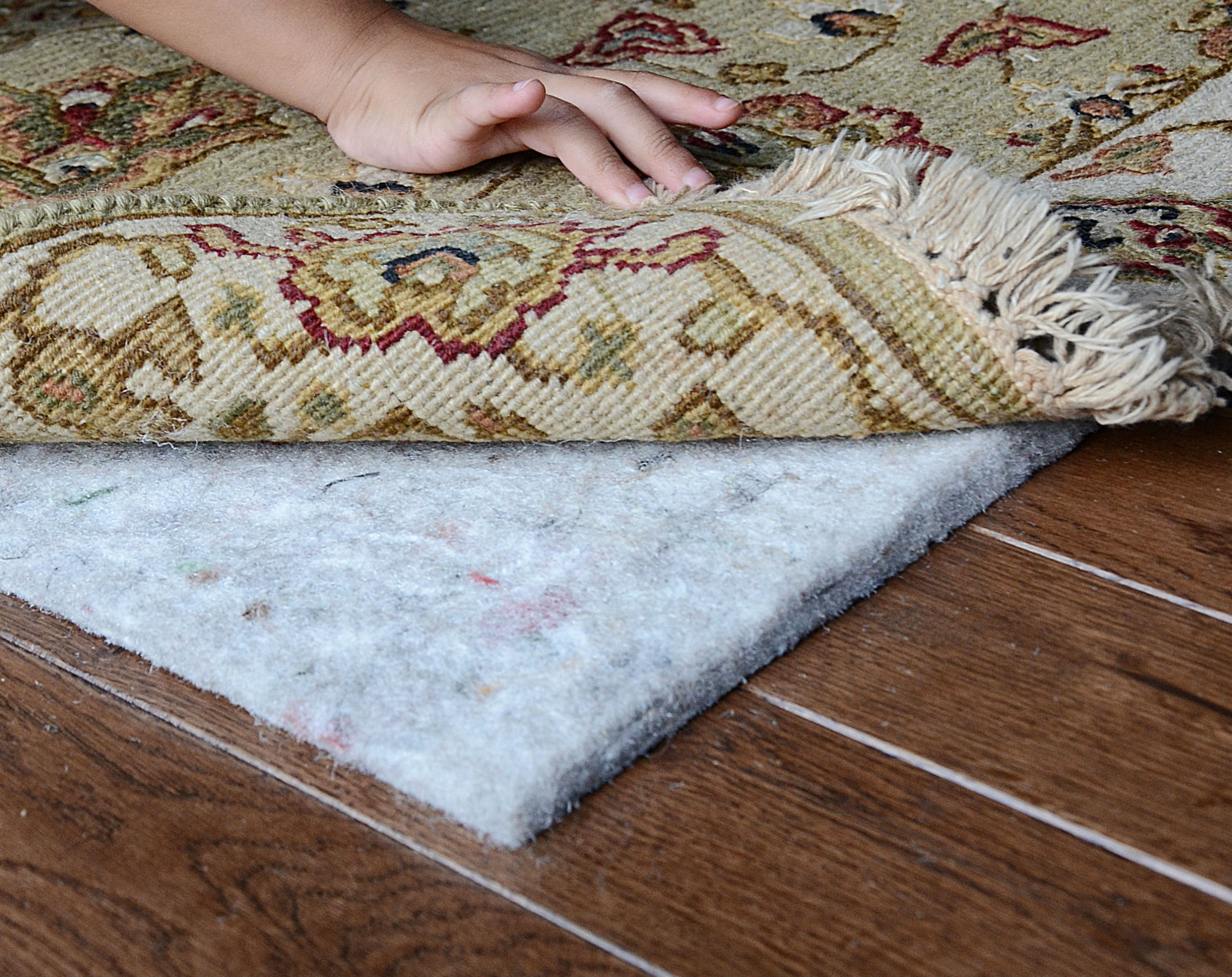 Dull White Best Rug Pad For Hardwood Floor Idea With Creamy Area