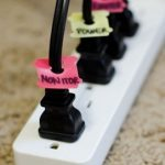 Easy Cheap Cord Management Ideas Colorful Power Plug Labels