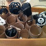 easy cheap cord management ideas toilet paper rolls simple cable rolls
