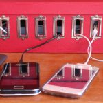 Easy Cord Management Ideas Homemade Charging Station Red Charging Station Box Charging Gadgets