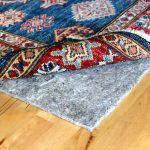 eco fiber rug pads Best rug pad for hardwood floors classic blue red etnic rug