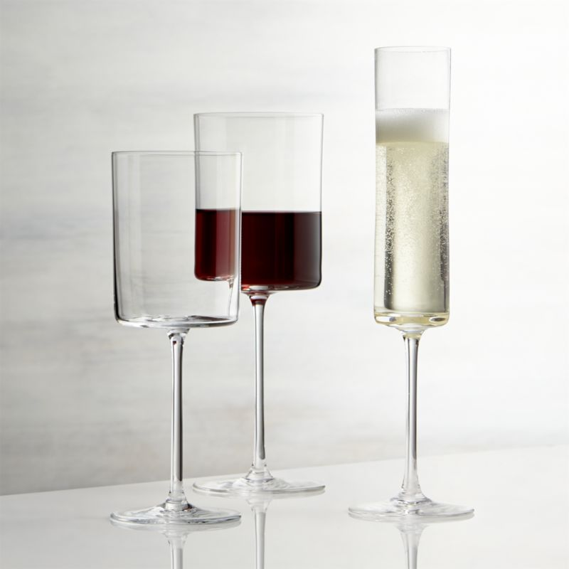 Complete Your Thanksgiving Centerpieces with Square Wine  : elegant and posh square wine glasses idea with very long neck on white table top from homesfeed.com size 800 x 800 jpeg 31kB