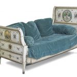 elegant royal sofa design by lilly pulitzer furniture with blue silky throw and cushions and chaise and white patterned accent
