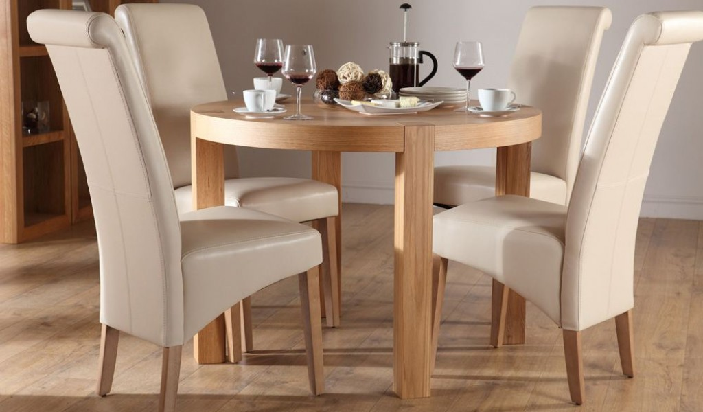 Round kitchen table set for 4 a complete design for small for Dining room table and 4 chairs
