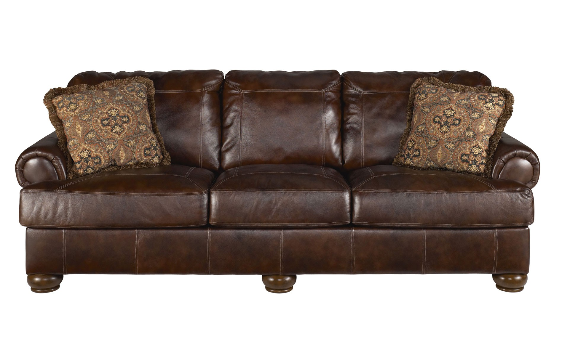 Deep Seated Sofa Distressed Leather Sectional Homesfeed