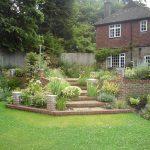 exterior landscape house grass