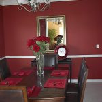 flower chandelier table pad chairs mirror