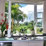 fresh garden windows for kitchens ideas with stainless steel kitchen ideas and green plants plus modern kitchen cabinets
