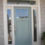 front door frame windows house number