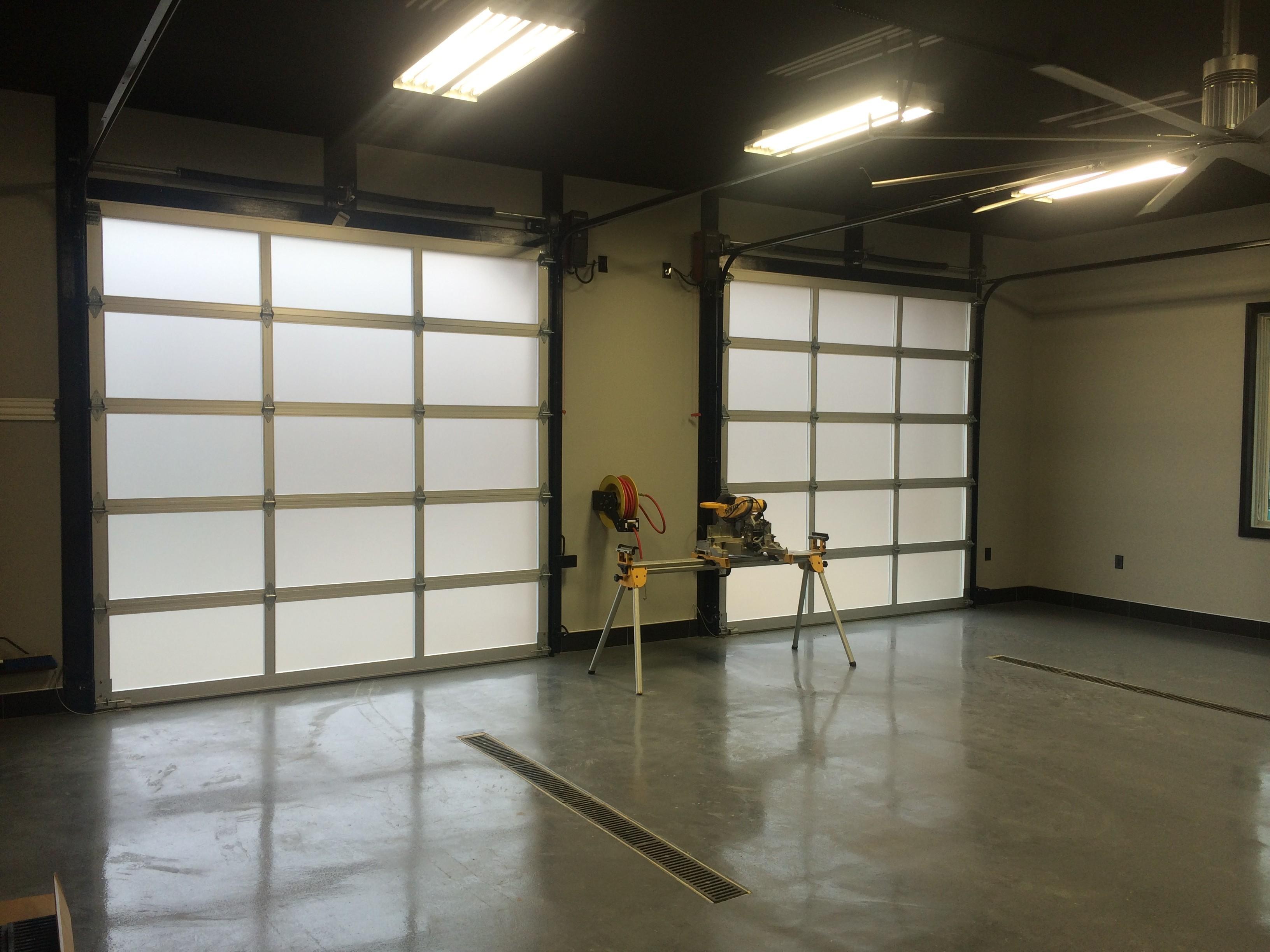 Glass overhead doors - Garage Door Opener Lamp