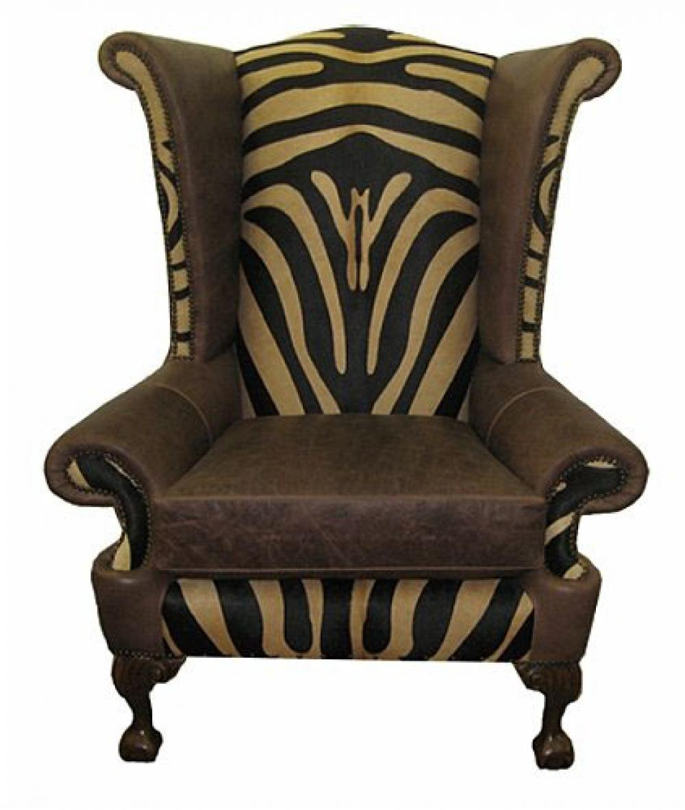 Patterned Wingback Chair Best Inspiration