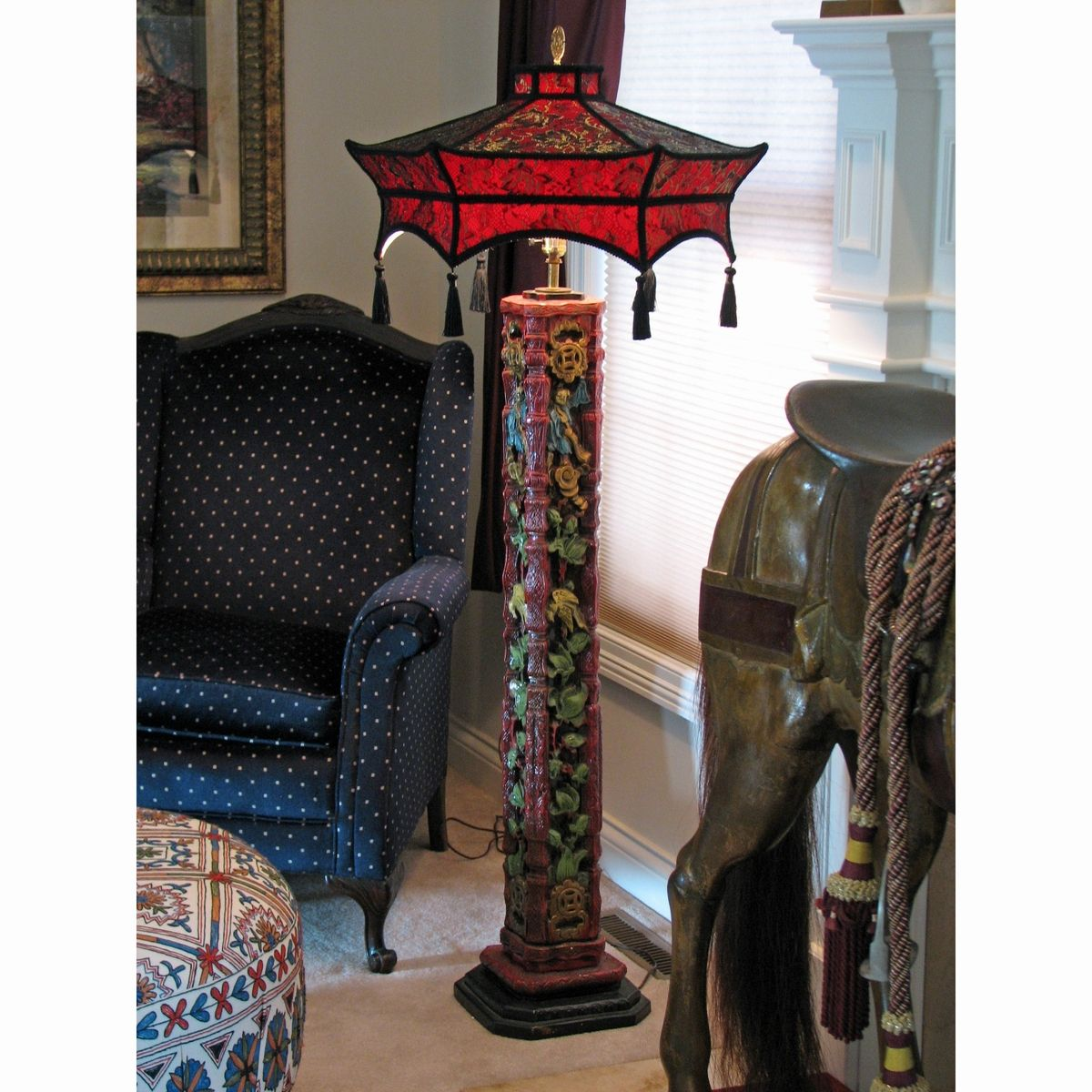 Mission style floor lamps when traditional meets contemporary taste gorgeous custom oriental red tone mission style floor lamps for living room dot motive small black aloadofball Gallery