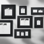 gorgeous picture frame target design with black wooden frame on white wall with various size