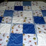Gorgeous White Blue Baby Quilt To Make Design With Plaid Patterns And Stitch Texture With Patterned Cloth