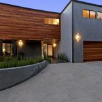 gray stucco wooden modern siding options combination modern house design spaceful front yard