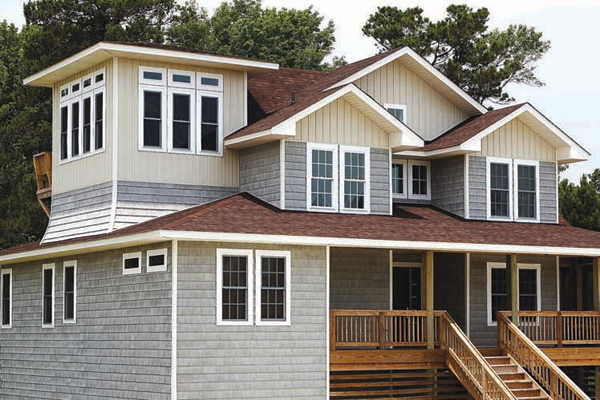 3 favorite modern siding options homesfeed for Vinyl siding house plans