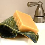 green draining soap dish for bathroom decorated on was basin near the faucet
