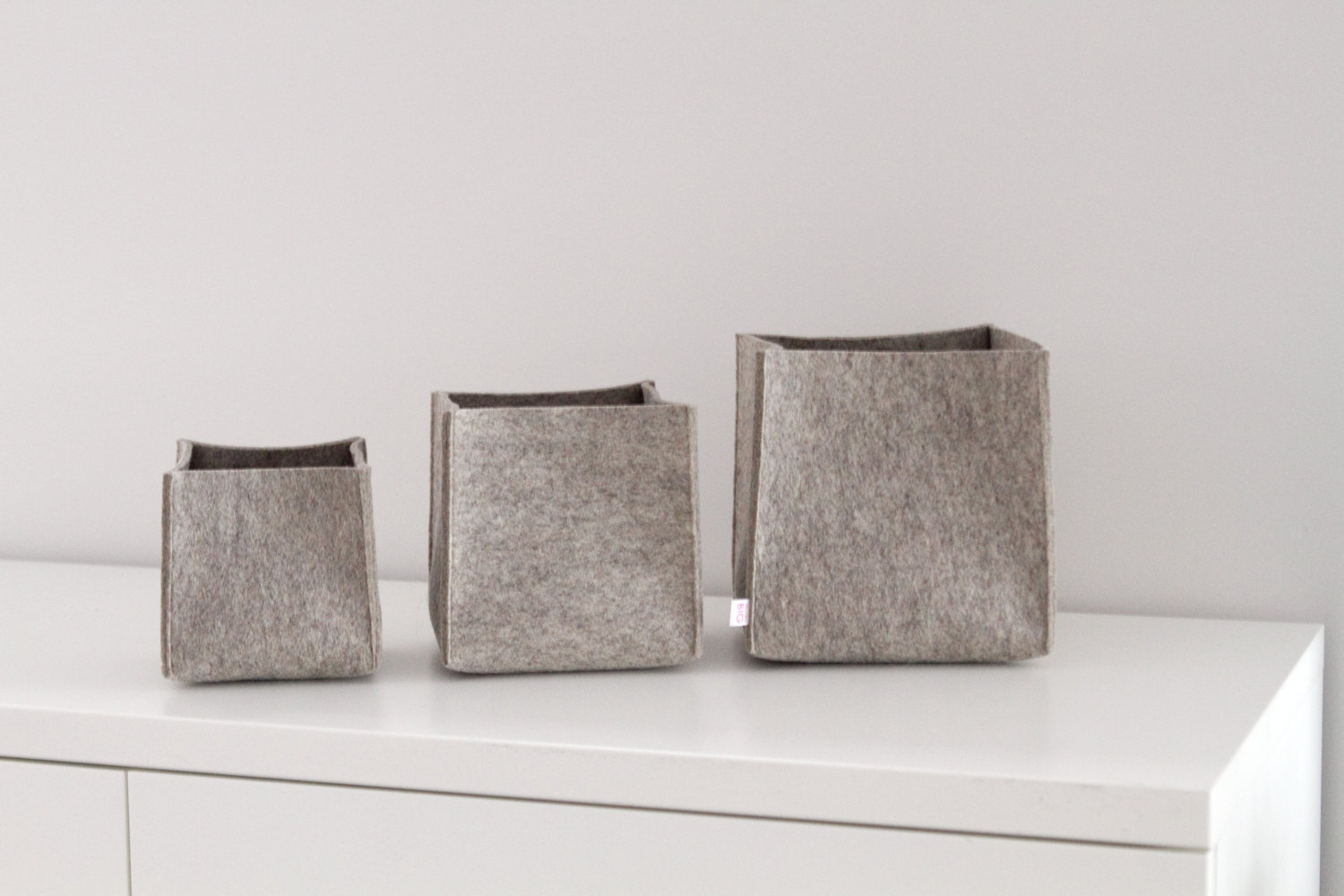 Felt Storage Bins Offering Stylish Storage for Your Home Decorations