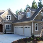 house color windows door garages road rocks