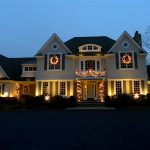 house string lamps lights plants windows tree door