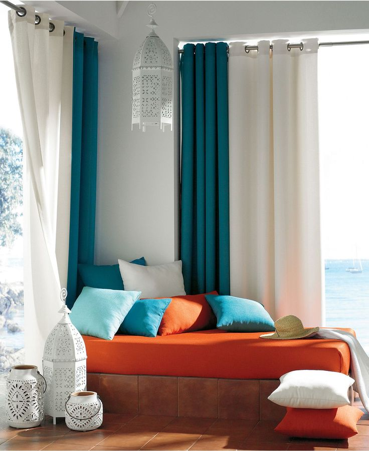 Indoor Outdoor Curtains Displaying Beautiful Details That