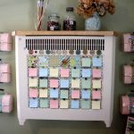 inspiring and cool cork boards with colorful sticky notes and cute pinky briefcase plus ceramic vase and jar