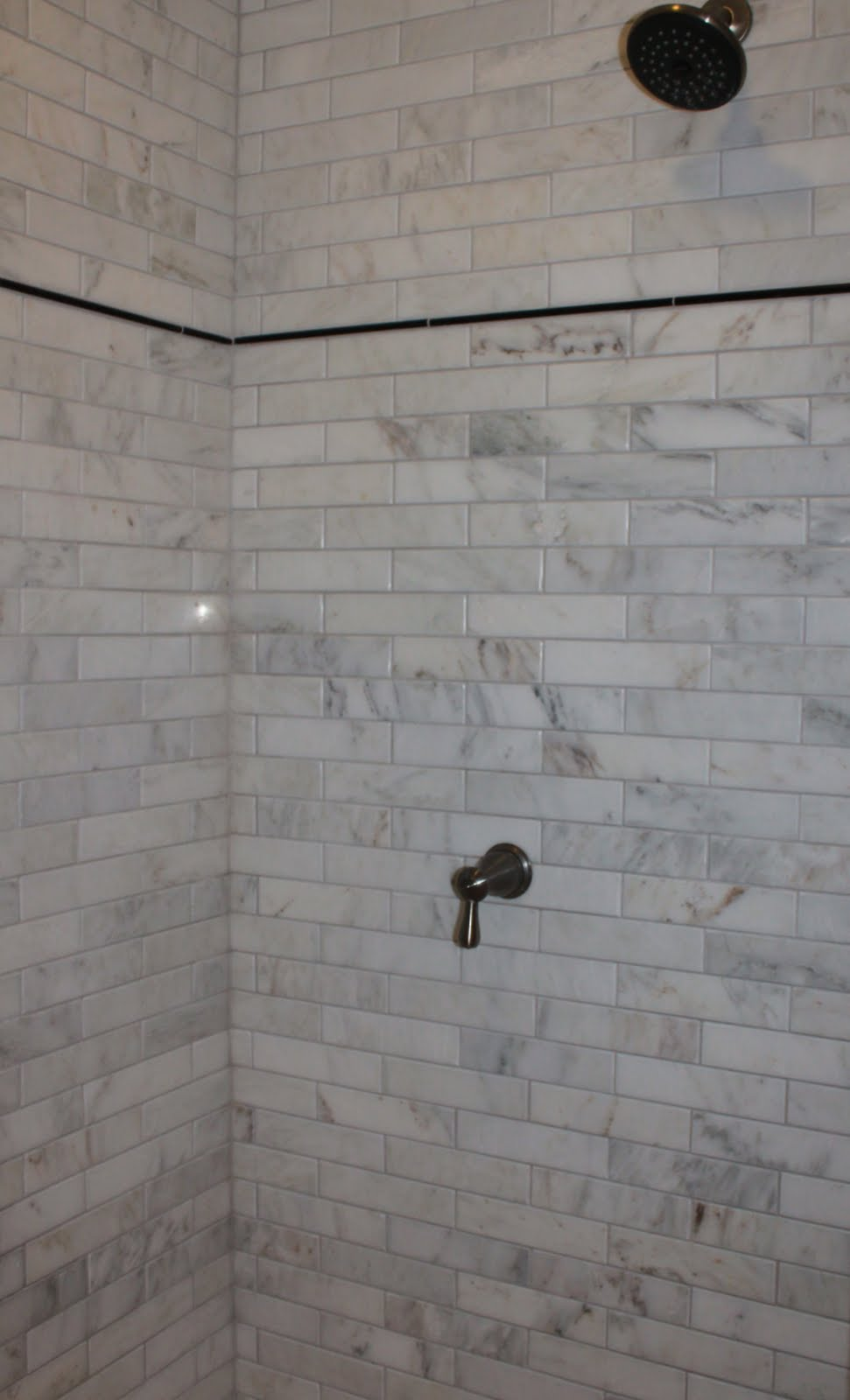 Marble subway tile shower offering the sense of elegance homesfeed Tile bathroom
