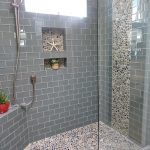 installing a tile shower beautiful gray tile shower decorative flowers