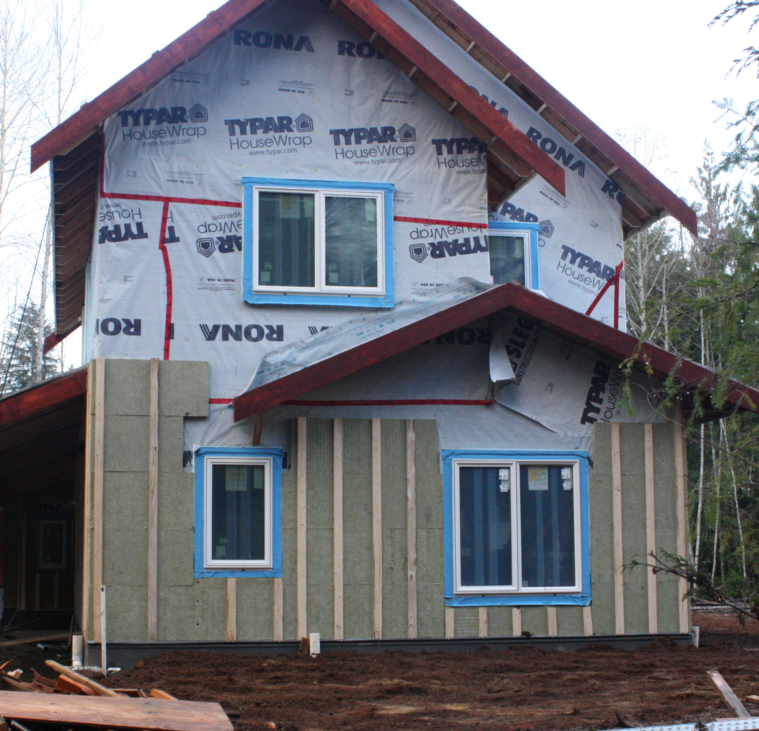 A glance of insulating exterior walls homesfeed for Exterior framing
