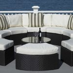 ivory half round wicker outdoor huge sectional sofa outdoor space black wicker outdoor sectional sofa black wicker glass top table