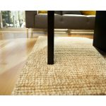 jute rug table wood floor sofa