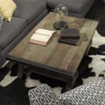 karsten high end coffee tables for rustic living room accent with wooden top and grey sectional sofa and patterned armchair plus white and black rug
