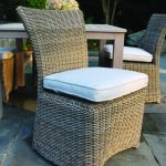 kingsley bate sag harbor dining set table in classic white scheme decorated with wooden table for outdoor or backyard