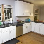 kitchen black countertop options white wood set