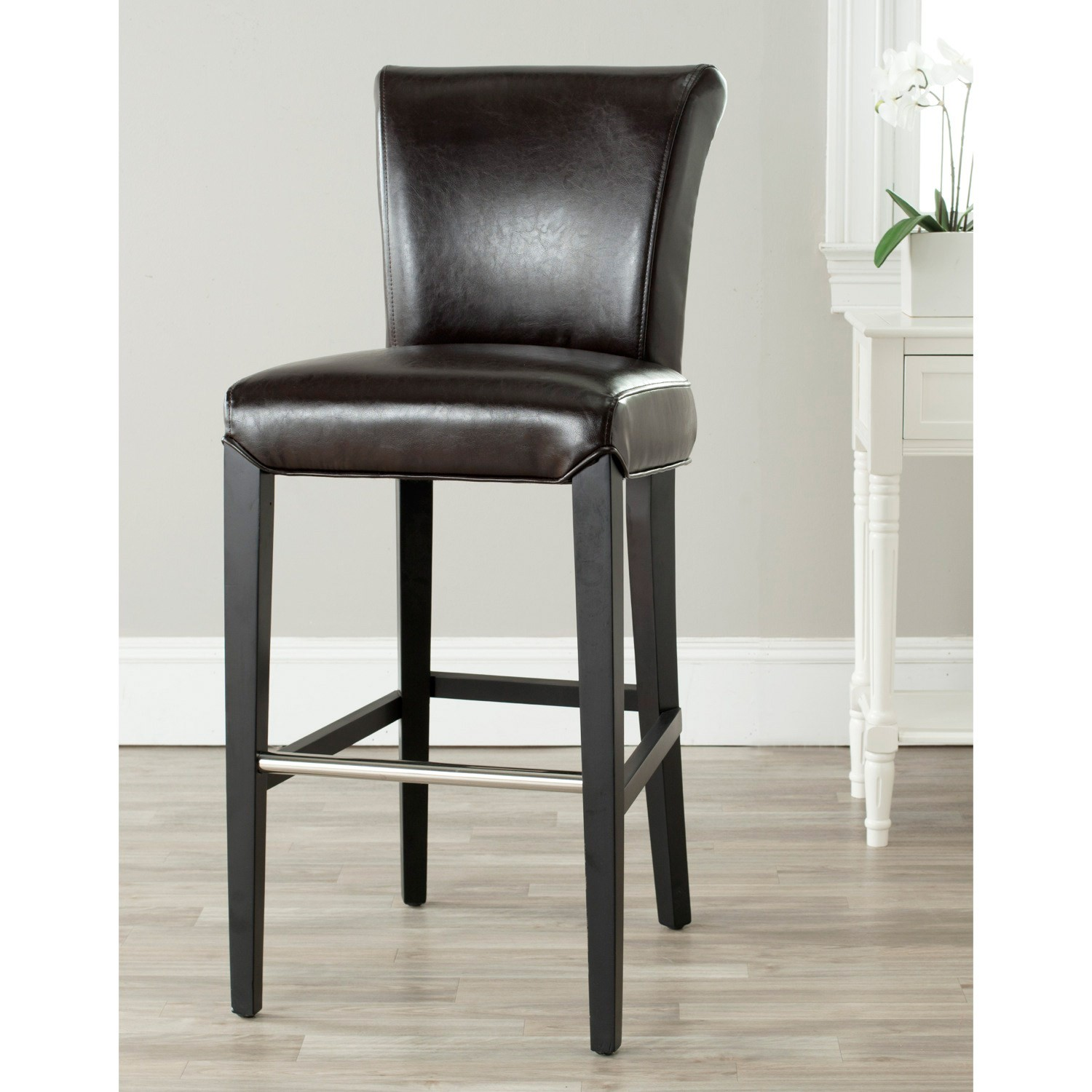 Upholstered Bar Stools With Backs Homesfeed