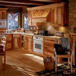 kitchen set wooden chairs table fireplace
