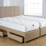 kluft mattress review in white and beige plus storage underneath for modern and comfortable bedroom ideas and wooden floor