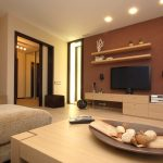 lamps cabinet tv table sofa door windows