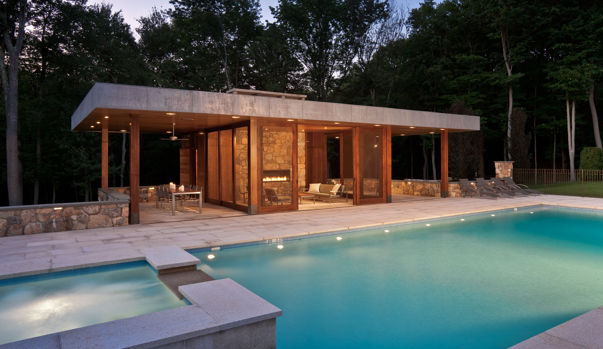 modern pool pavilion inspiration homesfeed. Black Bedroom Furniture Sets. Home Design Ideas