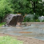 large landscape rocks along with natural stone front yard surface green front yard