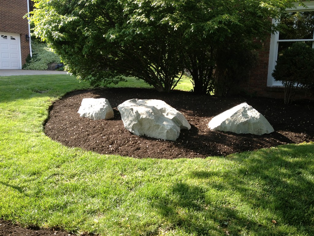 Large rocks for garden indy garden show the way decor for Landscaping large gardens