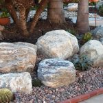 large landscape rocks large fiberglass landscape boulders small gravels combination green garden plants